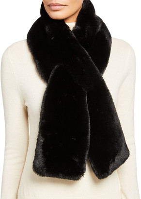 Surell Accessories Faux-Fur Pull-Through Scarf