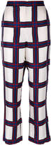 Tory Burch checked flared trousers
