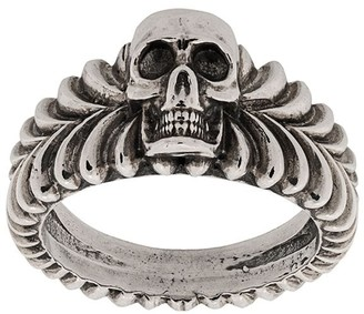 Emanuele Bicocchi Skull Engraved Ring