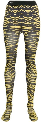 Laneus Animal Print Tights