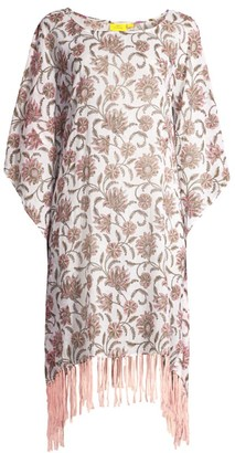 Roller Rabbit Vine Floral Cona Cotton Poncho Cover-Up