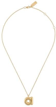 Marc Jacobs letter plaque necklace