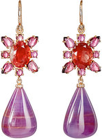 Irene Neuwirth Women's Mixed-Gemstone Double-Drop Earrings-BLUE