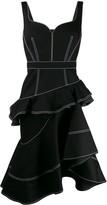 Alexander McQueen tiered asymmetric hem dress