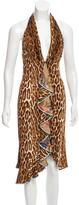 Yigal Azrouel Leopard Print Halter Dress