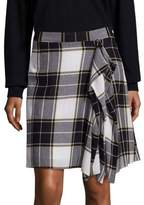 Public School Gina Draped Plaid Skirt
