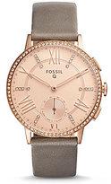 Fossil Q Gazer Leather-Strap Hybrid Smart Watch