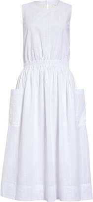 1901 Sleeveless Cotton Fit & Flare Dress