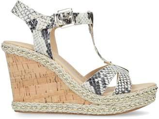 Carvela Karoline Snake Wedge Sandals
