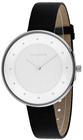 skagen gitte collection skw2232 womens leather strap watch