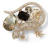 Banana Republic Jeweled Lizard Brooch