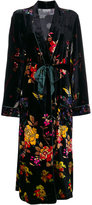 Pierre Louis Mascia Pierre-Louis Mascia velvet belt coat