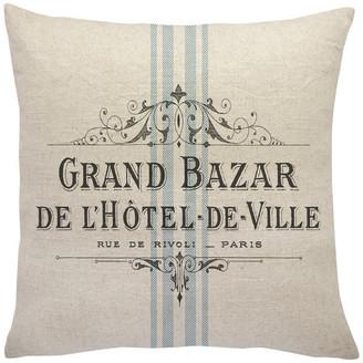 The Watson Shop French Grain Sack Linen Throw Pillow