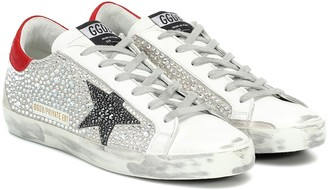 Golden Goose Exclusive to Mytheresa Superstar embellished sneakers