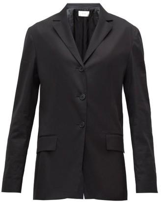 The Row Fiakra Single-breasted Cotton Jacket - Womens - Black