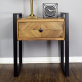 Delphine 1-Drawer End Table 17 Stories Color: Brown