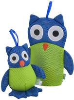 Rich Frog Wacky Wash Mitt and Bath Sponge Combo - Owl