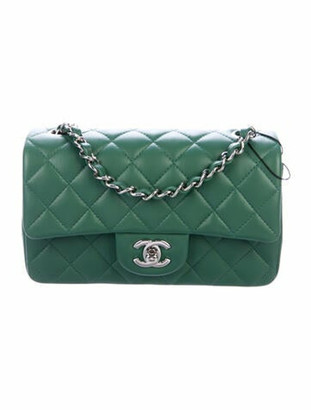 Chanel 2019 New Mini Flap Bag w/ Tags green
