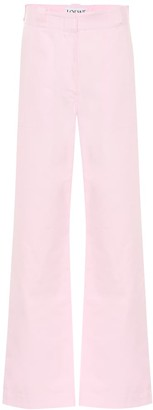 Loewe High-rise wide-leg cotton pants