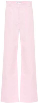 Loewe High-rise wide-leg cotton pants