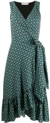 Tory Burch Ruffled Wrap Midi Dress