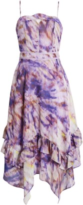 Adelyn Rae Jodie Tie Dye & Metallic Stripe Dress