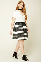 Forever 21 FOREVER 21+ Plus Size Striped Skirt