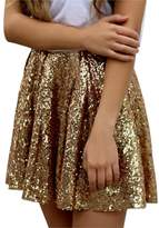 Lisong Women's Mini Sequin party Prom Skirt 8 US