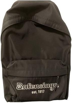 Balenciaga Black Polyester Backpacks