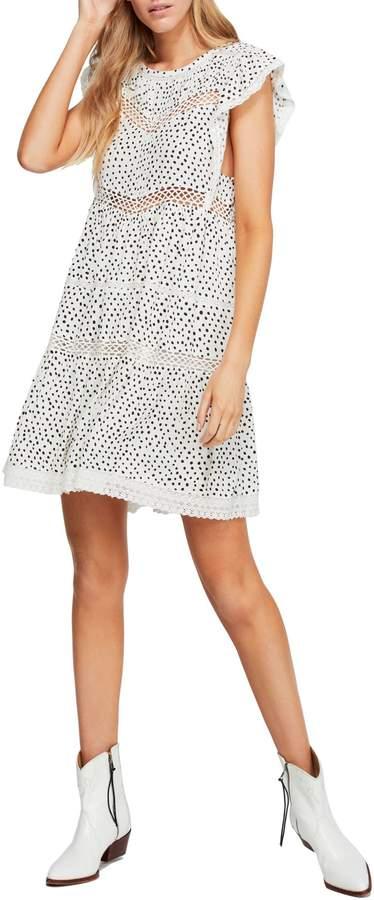 Free People Retro Kitty Cotton Mini Dress