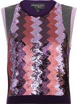 Giambattista Valli cashmere sequined gilet - women - Cashmere - 38