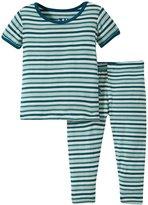 Kickee Pants Printed Pajama Set (Baby) - Animal Stripe - 18-24 Months