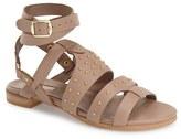 Topshop Women's 'Flame' Stud Wraparound Ankle Strap Sandal