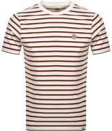 Pretty Green Multi Stripe T Shirt Cream