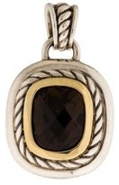 David Yurman Two-Tone Smoky Quartz Albion Pendant