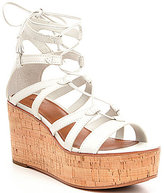 Frye Heather Gladiator Lace-Up Leather Wedge Sandals