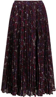 MICHAEL Michael Kors Floral Pleated Skirt