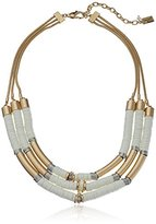 "Kenneth Cole New York Palm Desert"" Mixed Two-Tone Bead Multi-Row Necklace, 18"" + 4"" Extender"