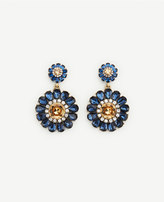 Ann Taylor Floral Drop Earrings