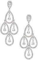 Nadri Kite Cubic Zirconia Chandelier Earrings