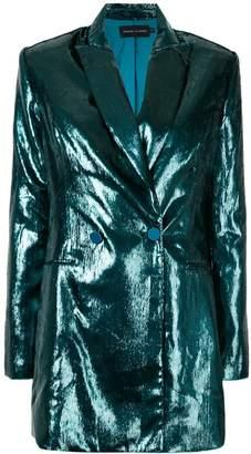 Michael Lo Sordo metallic double breasted blazer