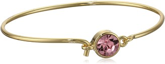 "1928 Jewelry Best of Times"" 14k Gold Dipped Light Rose Pink Wire Bracelet"