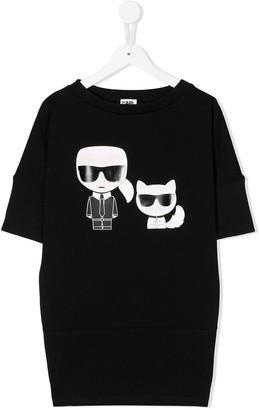 Karl Lagerfeld Paris motif T-shirt dress