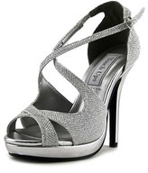 Touch Ups Dana Women Open Toe Synthetic Silver Platform Sandal.