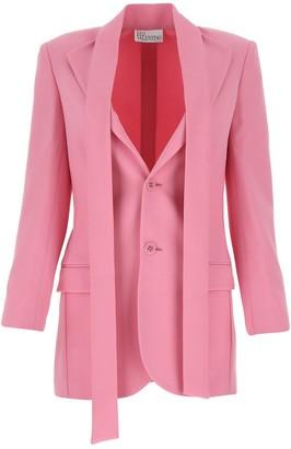 RED Valentino Scarf Collar Detailed Blazer