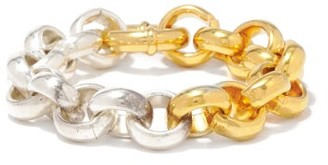 Timeless Pearly Sterling-silver And 24kt Gold-plated Bracelet - Silver Gold