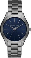Michael Kors Men's Slim Runway Gunmetal Stainless Steel Bracelet Watch MK8584