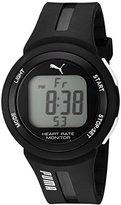 Puma Quartz Plastic and Polyurethane Watch, Color:Black (Model: PU911101001)