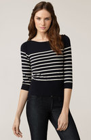 Stripe Bateau Neck Sweater