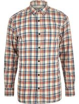 River Island MensRed Jack & Jones Vintage Maywood check shirt